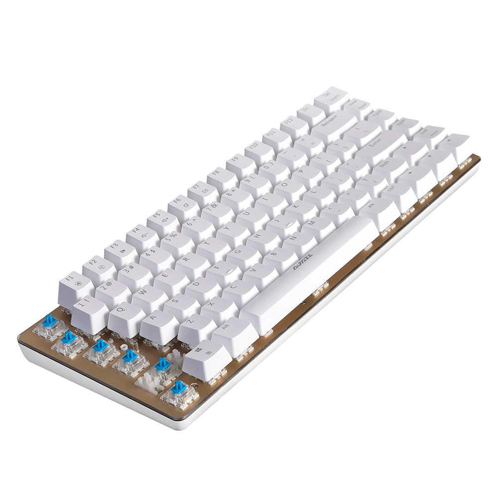 AJAZZ AK33 الخطي عمل الميكانيكية لوحة المفاتيح الألعاب E-الرياضة لوحة المفاتيح 82 مفاتيح USB السلكية مكافحة الظلال ل PC الكمبيوتر المحمول سطح المكتب