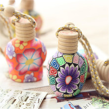 Car Air Freshener Hanging Bottle Empty Soft Clay Bottles For Perfume Diffuser Ornament Interior Accessories Car Accesories(China)