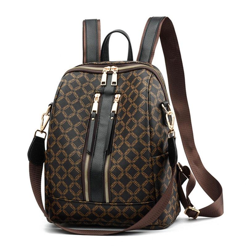 Women Luxury Backpack High Quality PU Leather Bag Designer Backpacks Brand Female Shoulder Bag Girls Travel Bags Rucksack 2020