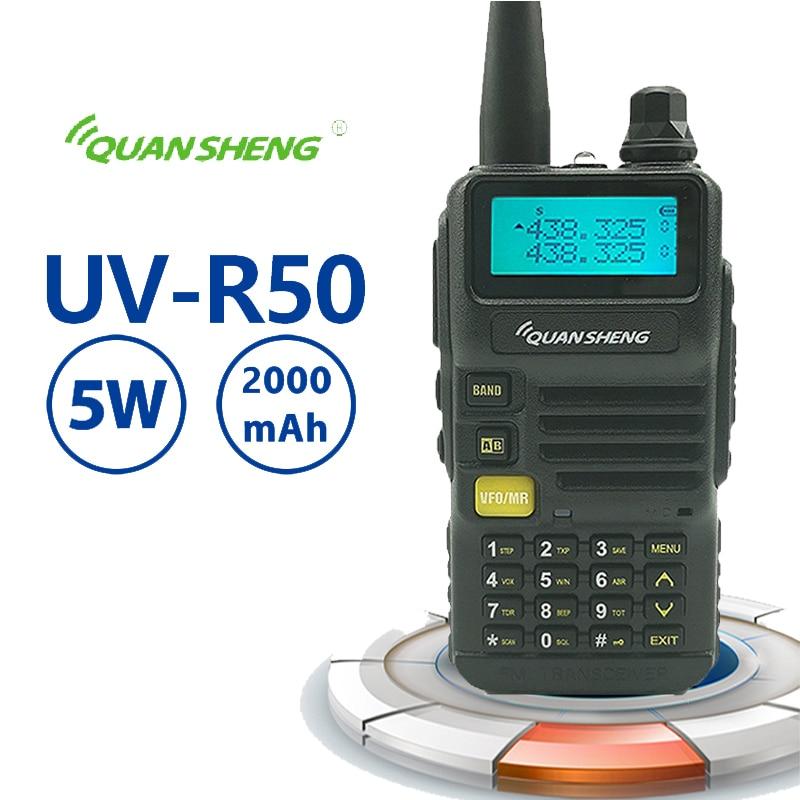 New Quansheng UV-R50 Walkie Talkie UHF VHF Dual Band 5W Two-way Radio 2800mAh Long Standby Portable Radio Radio Walkie Talkie