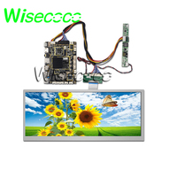 wisecoco 12.3 inch 1920x720 bar lcd screen For Automotive Car +HDMI Andriod board high brightness 1000 Nits HSD123KPW1 A30
