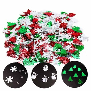 30g Christmas Snowflakes Confetti Christmas Tree Elk Snowman Table Scatter Sprinkle Confetti For New Year Xmas Party Supplies
