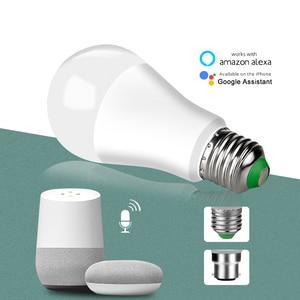 Image 4 - 4 pcs 15W 1800 lm WiFi Ampoule LED E27 B22 Intelligent Light Bulb Dimmable Smart ampolleta wifi Lamp Alexa Google Assistant Echo