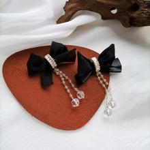IOY-pendientes colgantes de lazo con borla Bohemia para mujer, aretes largos, accesorios de joyería