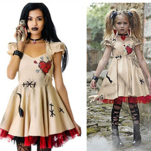 Halloween Costume Clothing Dress Dolls Scary Vampire Cosplay Voodoo Girls Women Medieval