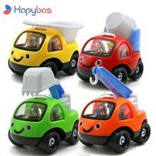 Super słodki Mini samochodziki w stylu kreskówki pojazdy inżynieryjne losowy kolor wojownik kombinacja samochodów zabawki uroczy prezent dla chłopców i dziewcząt
