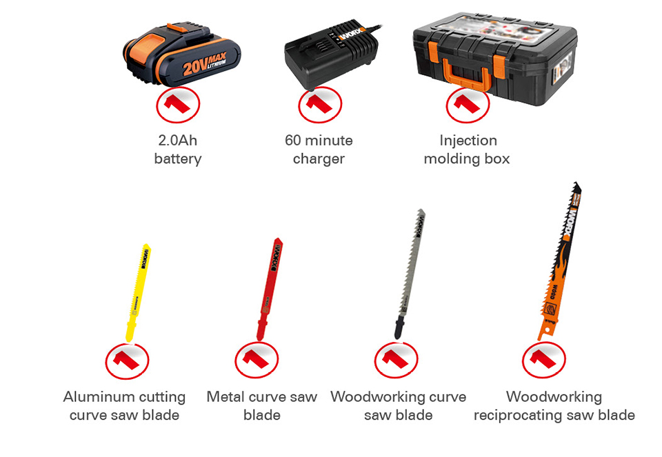 Item comes with Worx Electric Saw