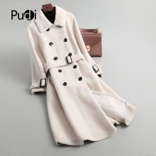 Fur Coat Long-Jackets Winter Women Sheep-Shearing Oversize Trench Wool Warm Girl Fall