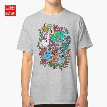 Aşk hayvanlar T shirt tavşan serin arı tasarımcı racoon lady bug su renk kuş balık retro