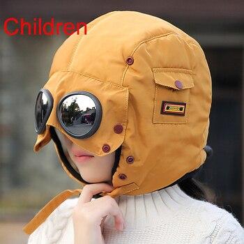 2020 New original design fashion warm cap winter men winter hats for women kids waterproof hood hat with glasses cool balaclava 12