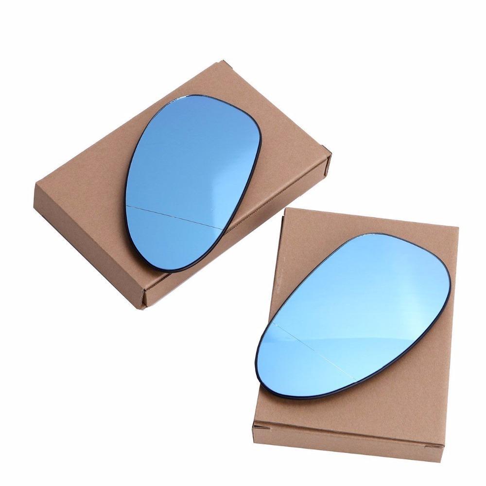 Blue Left Heated Side Door Mirror Glass for BMW E92 E46 E82 E90 E91