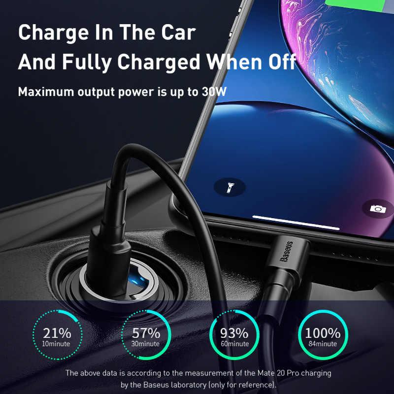 Baseus carga rápida 4,0 USB 3,0 C cargador de coche para Huawei P30 Xiaomi Mi9 teléfono móvil QC4.0 QC3.0 tipo C carga rápida de coche PD 3,0