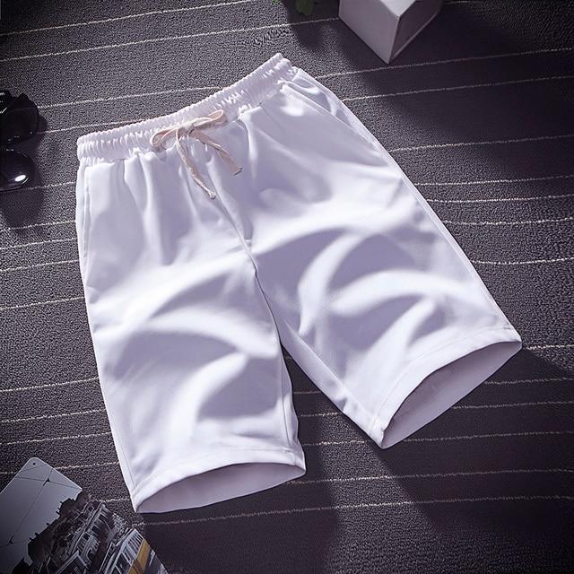 Summer thin ice silk five minute pants men wear loose sports casual shorts pyjama pants beach pants home big pants 1