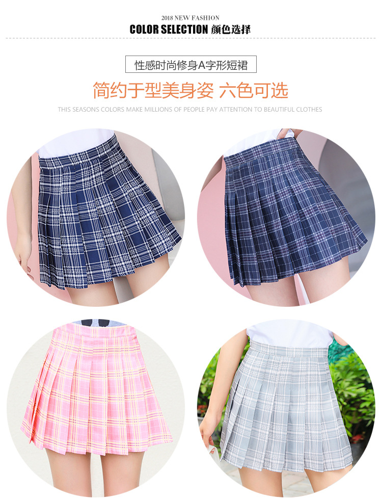 Harajuku Short Skirt New Korean Plaid Skirts Women Zipper High Waist School Girl Pleated Plaid Skirt Sexy Mini Skirt Plus Size 14