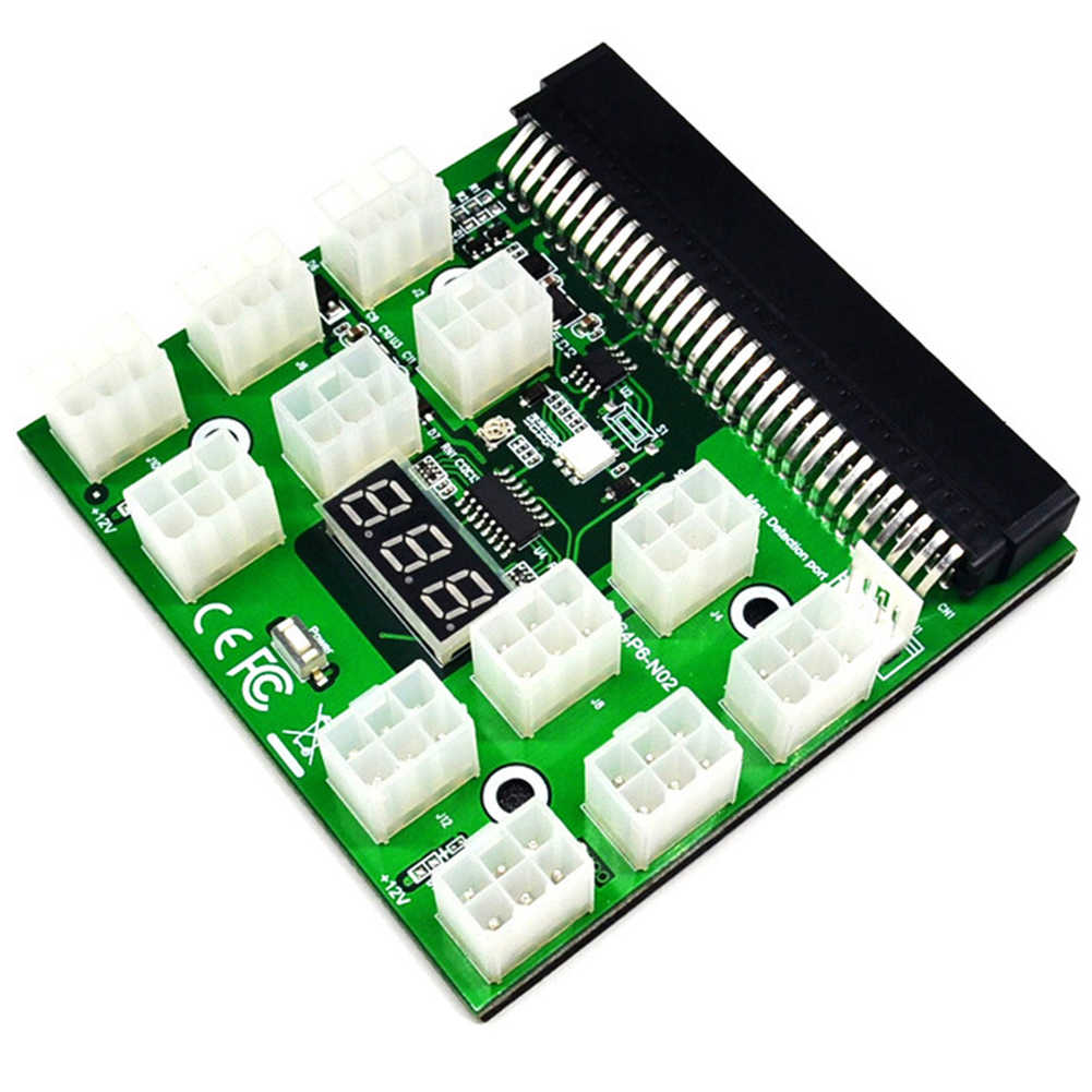 6pin ZEC ZCASH ETH LED Display Power Supply Ethereum Server Parts Mining Replacement For HP PSU GPU