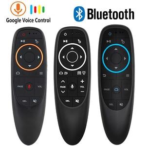 Air Remote Mouse G10 G10S голосовое дистанционное управление Bluetooth 2,4G беспроводной гироскоп для Android tv box H96 Max 3318