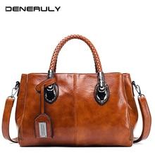 купить Women Leather Handbags Vintage Famous Designer Brand Leather Bags Women High Quality Crossbody Bags Ladies Hand Tote Bags 2019 дешево
