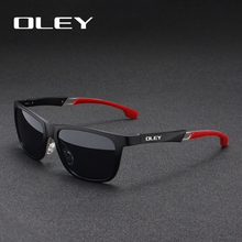 OLEY Aluminum Magnesium Men Sunglasses Polarized Coating Mir
