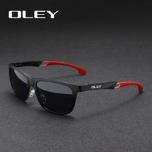 OLEY Gli Uomini Occhiali Da Sole di Alluminio E Magnesio Occhiali Da Sole Polarizzati Occhiali Da Sole A Specchio oculos Maschio Occhiali Accessori Per Gli Uomini Y7144