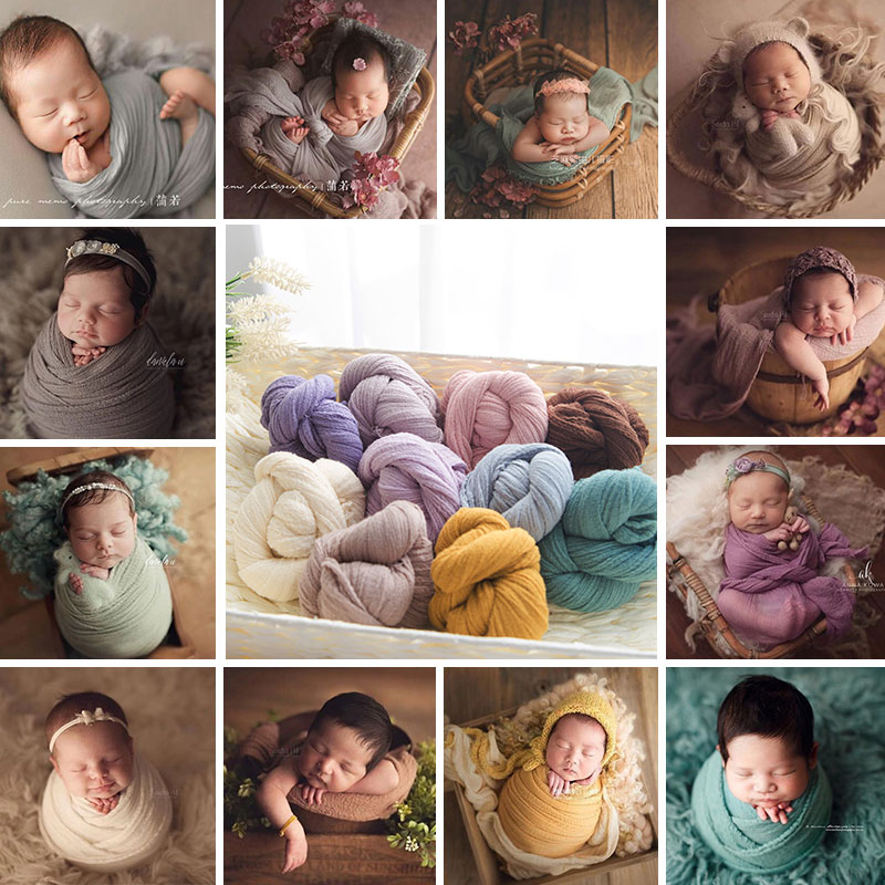Newborn Photography Wrap Baby Photo  Cocoon Sweater Fabric Wrap For Newborn Photography Props