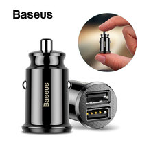 Baseus Mini Car Charger For iPhone Xr X 8 7 6 Dual USB