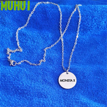 Free Shipping Kpop Twice Monsta x Titanium Steel Necklace Women Blackpink Seventeen Jewelry Never Fade Collares  B097