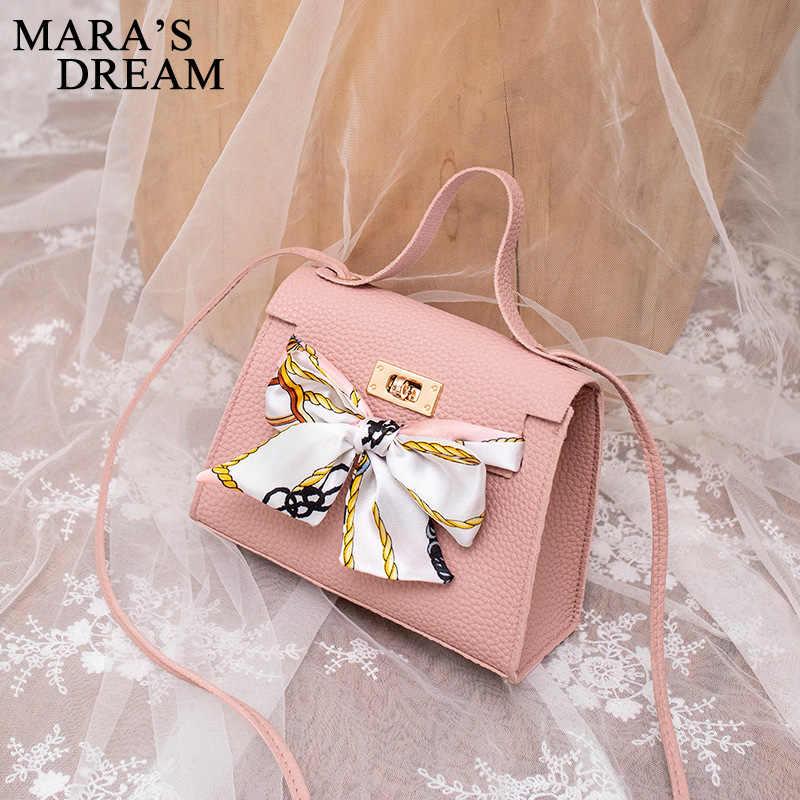 Mara 'S Dream 2019 Baru Warna Solid Lychee Syal Pola Kantong Bahu Diagonal Tas Tas Tangan