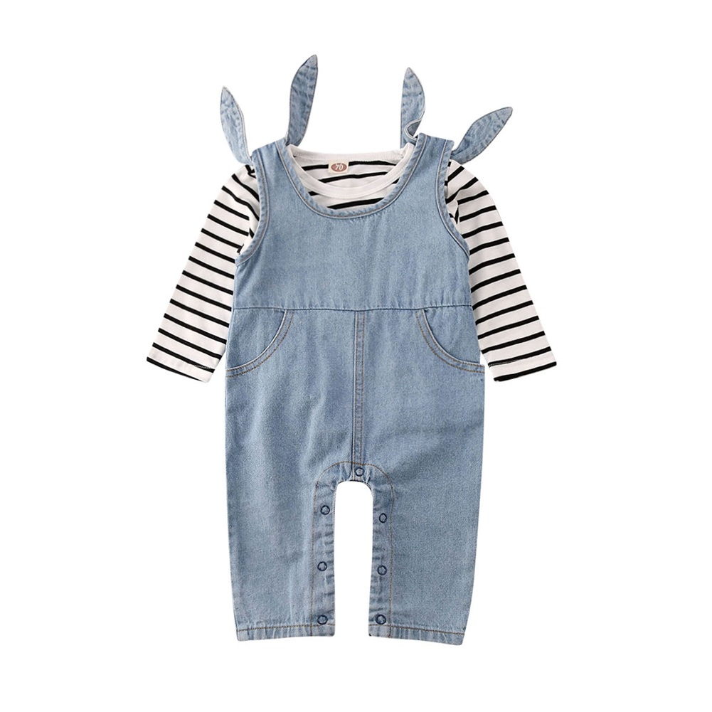 Baby Boy Girl Summer Clothes Overalls Outfits T-shirt+Bib Pants 2pcs Set 0-24M