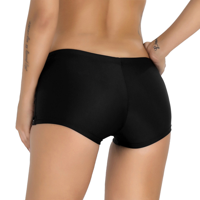 iiniim Female Women Boyleg Shorts Summer Beach Wear slim cut Bikini Bottoms Boardshorts breathable Swimsuit Swimwear 2