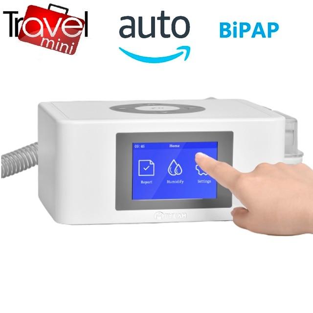 MOYEAH נסיעות מיני BPAP נשימה מכונה נייד אוטומטי BIPAP הנשמה ציוד רפואי עם מסכת צינור אנטי לנחור דום נשימה בשינה