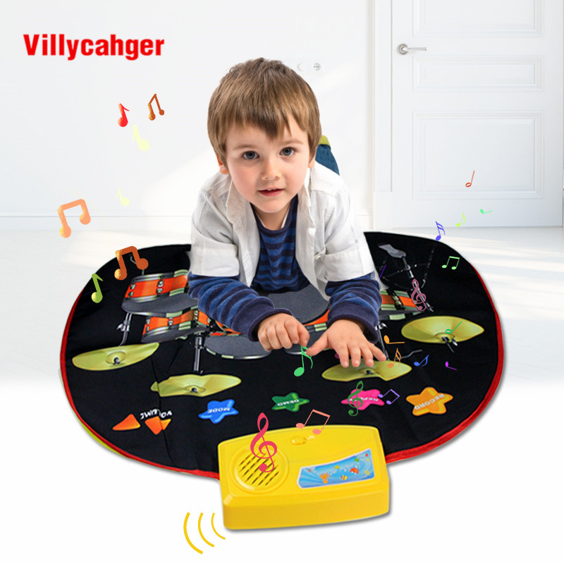 70.5x65cm Jazz Drums Musical Play Mat Rug Toys Multi-function Play Mat Carpet Music Instrument Educational Toys For Kids Gift