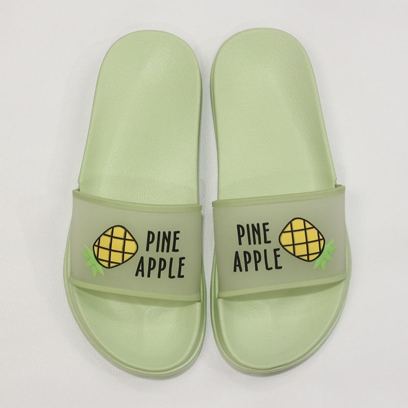 Hot DealsShoes Women Sandals Flip-Flops Summer Slippers Clear Fruit Open-Toe Jelly-Color Transparent