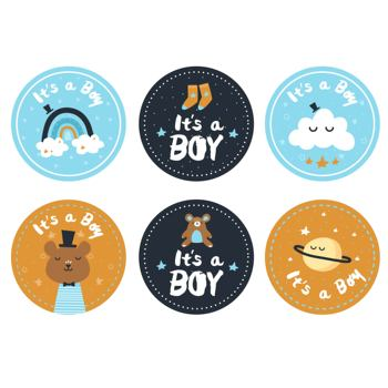 Baby Shower Stickers It is a Boy Girl Adhesive