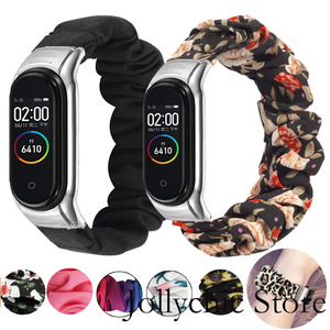 Scrunchie Elastic strap for Xiaomi Mi band 4 3 replaceable Bracelet Mi band band4 corea Wristband Breathable for Xiomi Miband 3