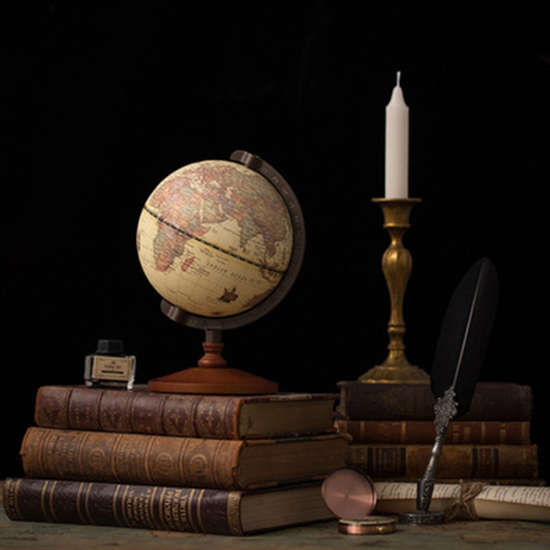2021 New Vintage Wooden Globe Home Decoration School Education Supplies for student