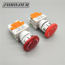 цена на 22mm LAY37-11ZS/LAY37-11ZSD Red Mushroom Head Emergency Stop Push Button Switch with Light Self-locking 10A/660V
