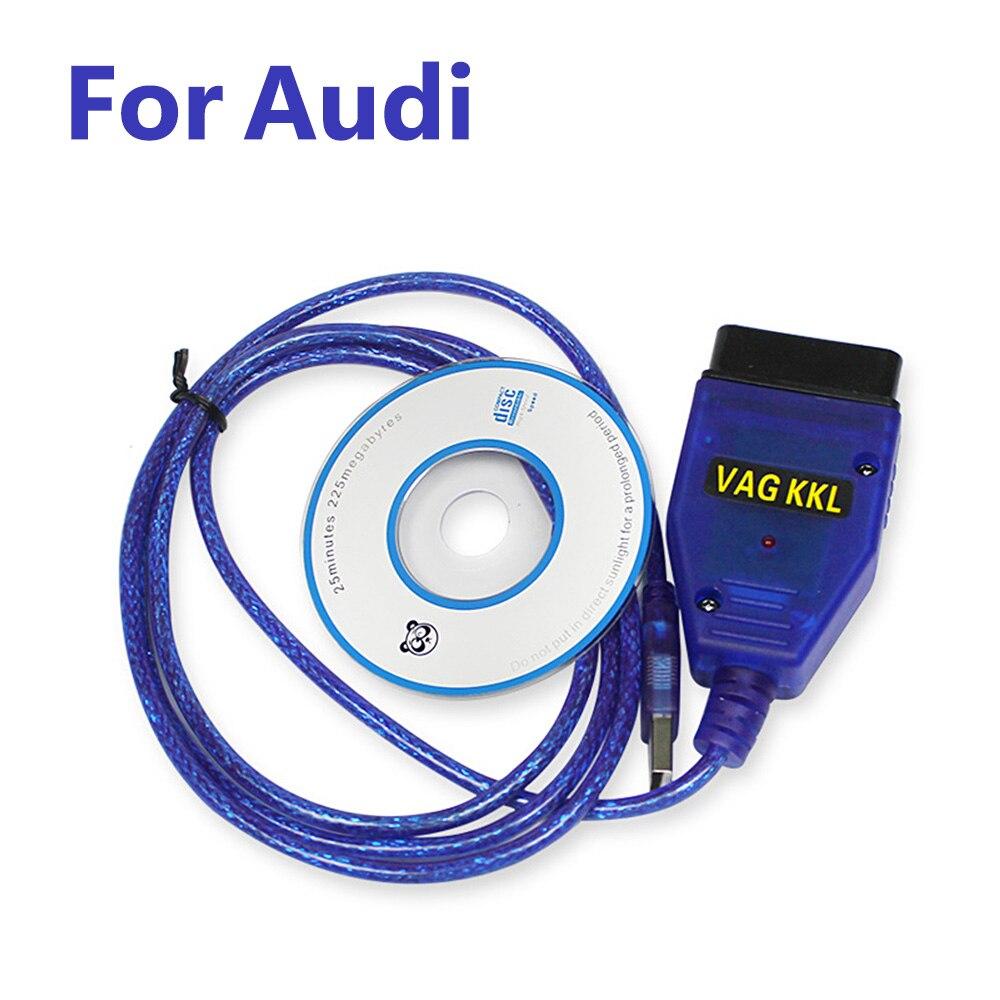 OBD2 II Interface USB Diagnostic Cable VAG409.1 Vag 409 VAG-COM KKL409 Car Scanner Scan Tools For Audi  S2 S3 TT A2 A3 A4 A6 A8