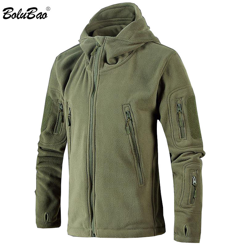 BOLUBAO Brand Men Military Tactical Jacket Coat Men's Soft Shell Windproof Jacket Winter Outdoor Hooded Jackets Male EU Size