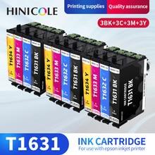 HINICOLE T1631-Cartucho de Tinta Para Epson WorkForce WF-2010 T1634 WF-2510 WF-2520 WF-2530 WF-2540 WF-2630 WF2650 WF-2660 Impressoras