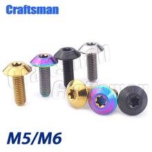 1 шт. Craftsman titanium Ti M6 X 12 15 20 и M5X15mm болт с головкой Torx для велосипеда, мотоцикла