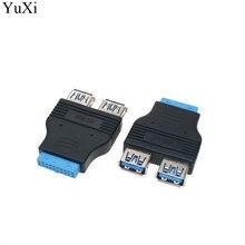 Yuxi материнская плата 20pin к двойному usb 30 адаптер типа