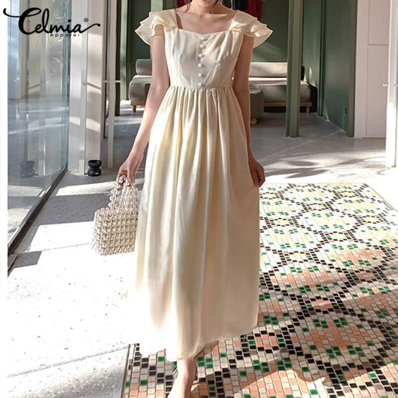 S 5XL размера плюс элегантное платье Макси женское плиссированное платье с открытой спиной повседневное летнее платье с коротким рукавом длинное платье Vestidos|Платья|   | АлиЭкспресс