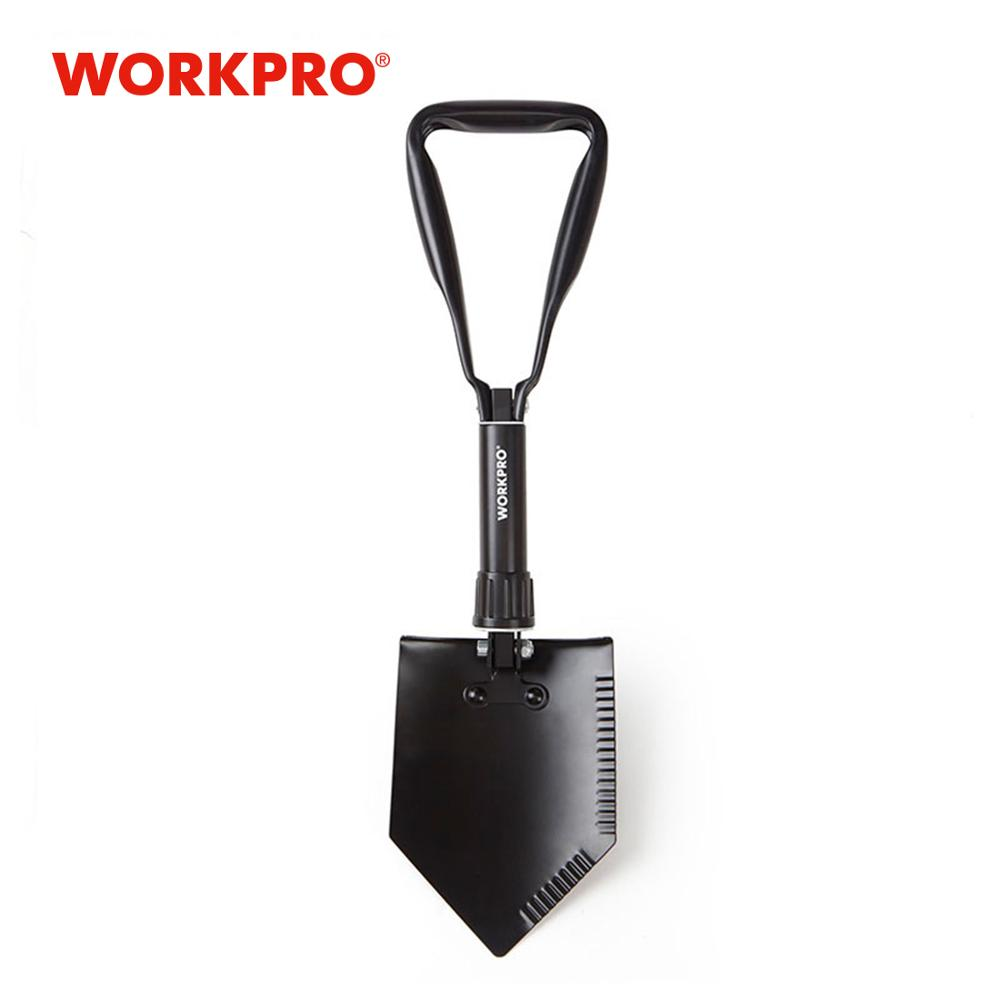 WORKPRO Military Shovel Tactical Mini Folding Shovel With Pouch Outdoor Camping Spade Survival Emergency Tools