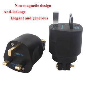 Image 4 - XangSane HI UK Британский стандарт позолоченный/позолоченный guy fever шнур питания штепсельная вилка hifi аудио кабель 13A 250В