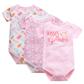 Newborn Bodysuit Baby Babies Bebes Clothes Short Sleeve Cotton Printing Infant Clothing 1pcs 0-24 Months newborn baby girl clothes footies lucky child cotton cartoon printing infant clothing 1pcs 0 12 months