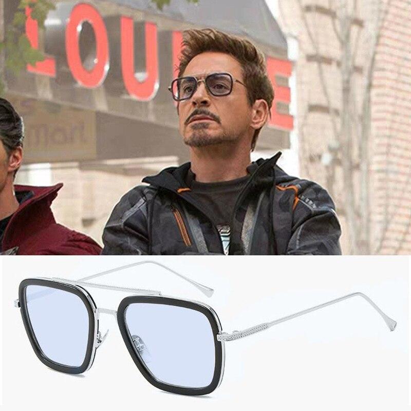 Iron Man Tony Stark Fishing Sunglasses Square Outdoor Sport Fishing Glasses Men Spider Edith Glasses Sports Glasses Clip On New