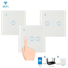 APP WiFi Smart Light Glass Panel Touch Switch Compatible with Alexa Google Home Smart Wall Switch AC 95V-250V Timer Function compatible 4pp320 0653 k01 touch panel