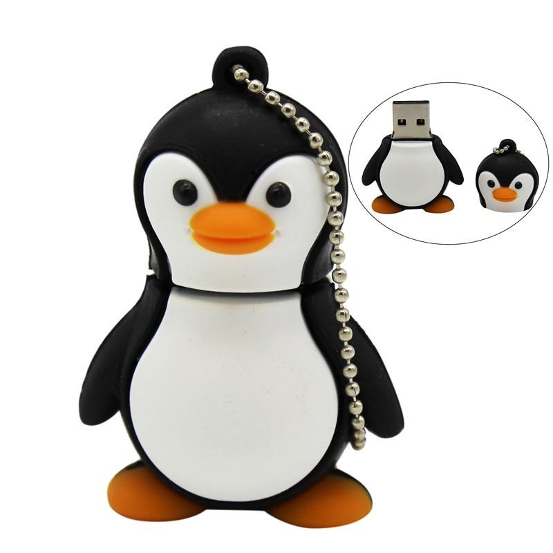 TEXT ME Cartoon  Personality 64GB  Cute Penguin USB Flash Drive 4GB 8GB 16GB 32GB Pendrive USB 2.0 Usb Stick