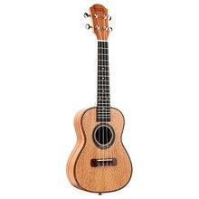 гитара акустическая Yael Concert Гавайская гитара 4 струны из красного дерева 23 дюйма сопрано Гавайские гитары для начинающих палисандр гриф мос...