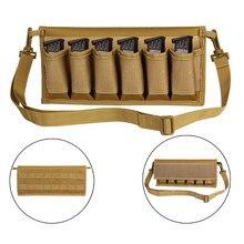 Taktik tabanca dergisi çanta 6 Mag kabuk Airsoft cephane çantası Molle taktik dergisi çantası avcılık için
